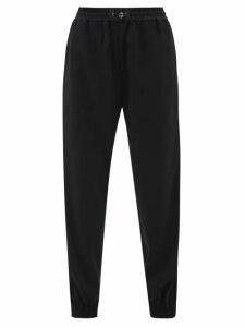 Dolce & Gabbana - Geranium Print Lace Trim Silk Blend Gown - Womens - Red Multi