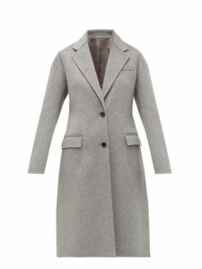 Joseph - Marly Single Breasted Wool Blend Coat - Womens - Grey