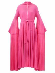 Ganni - Leopard Printed Silk Blend Midi Skirt - Womens - Leopard