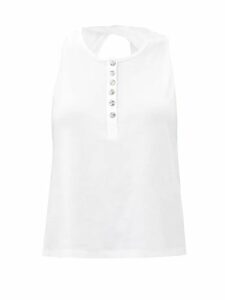Ganni - Tiger Print Smooth Peplum Organza Blouse - Womens - Brown