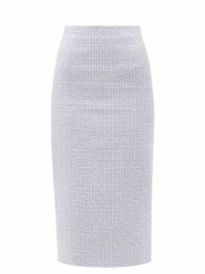 Loewe - Checked Tailored Linen Coat - Womens - Navy