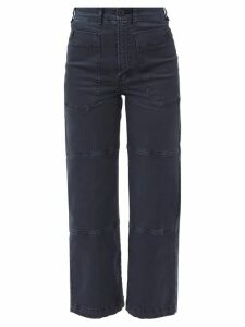 Valentino - Tiered Leather Dress - Womens - Black