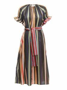 Apiece Apart - Chabrol Striped Cotton Blend Midi Dress - Womens - Multi