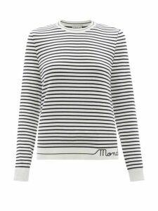 Gabriela Hearst - Henri Polka Dot Silk Shirt - Womens - Navy Multi