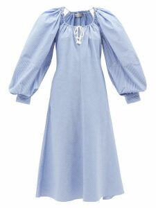 Gabriela Hearst - Sophie Single Breasted Cotton Ottoman Blazer - Womens - Navy