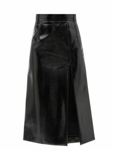 Goat - Goldfinch Balloon Sleeve Foiled Jersey Midi Dress - Womens - Silver