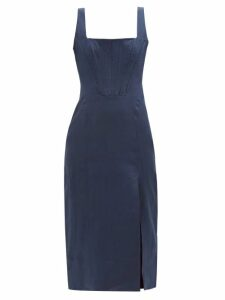 Staud - Amaretti Cotton Poplin Maxi Dress - Womens - Light Pink