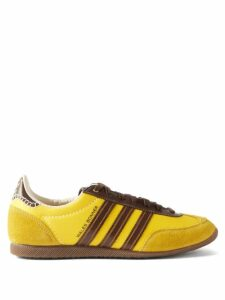 Allude - Split Front Ribbed Cashmere Midi Skirt - Womens - Beige
