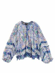 Erdem - Kinsey Floral Jacquard Midi Dress - Womens - Blue Multi