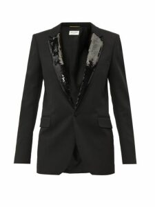 Saint Laurent - Sequin Embellished Wool Blazer - Womens - Black
