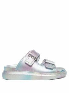 Prada - Rose And Heart Print Cotton Shirt - Womens - Light Blue
