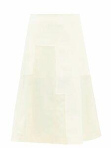 Prada - Oversized Patch Pocketed Cotton Poplin Shirt - Womens - Blue