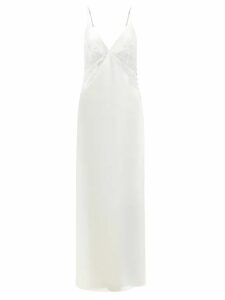 Prada - Divisa Twill Pleated Skirt - Womens - Black