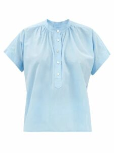 Prada - Belted Waist Gabardine Nylon Trench Coat - Womens - Beige