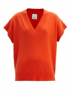 Saloni - Isa Polka Dot Devoré Silk Blend Chiffon Dress - Womens - Red Multi