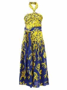 Simone Rocha - Sequinned Tulle Ruffled Gathered Dress - Womens - Pink