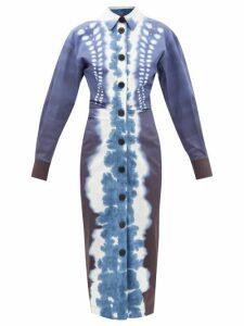 Simone Rocha - Asymmetric Embroidered Lace Midi Skirt - Womens - Beige