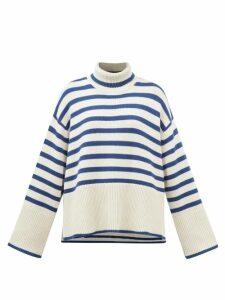 Simone Rocha - Lace Panel Cotton T Shirt - Womens - Black