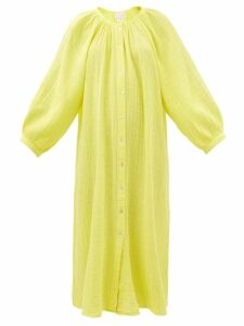 Maria Lucia Hohan - Millie Metallic Mesh Wrap Dress - Womens - Rose Gold