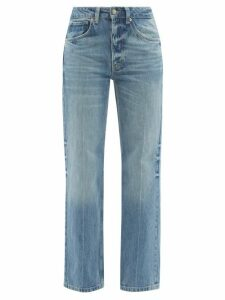 Raey - Shirred Bleached Tiger Print Cotton Maxi Dress - Womens - Black Print