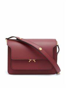 Marni - Trunk Medium Leather Shoulder Bag - Womens - Burgundy