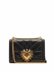 Dolce & Gabbana - Devotion Quilted Leather Cross Body Bag - Womens - Black