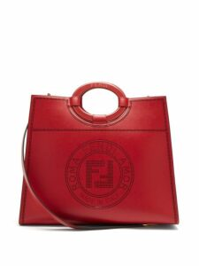 Fendi - Runaway Medium Perforated Logo Leather Tote - Womens - Red Multi