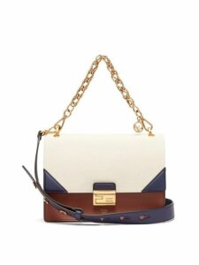 Fendi - Kan U Leather Cross Body Bag - Womens - Cream Multi