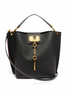 Valentino - Escape V Logo Leather Shoulder Bag - Womens - Black