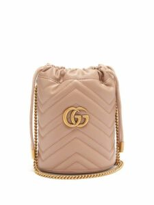 Gucci - Gg Marmont Leather Bucket Bag - Womens - Nude