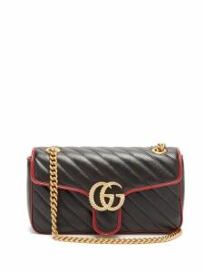 Gucci - Gg Marmont Quilted Leather Bag - Womens - Black Multi