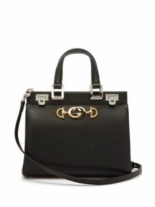 Gucci - Zumi Small Top Handle Leather Bag - Womens - Black
