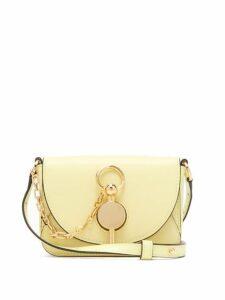 Jw Anderson - Nano Keyts Leather Cross Body Bag - Womens - Light Yellow