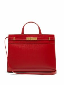 Saint Laurent - Manhattan Small Leather Tote Bag - Womens - Red