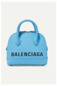 Balenciaga - Ville Xxs Aj Printed Textured-leather Tote - Blue