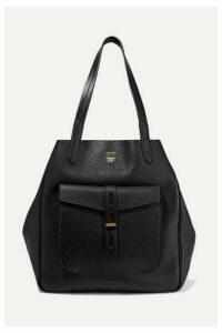 TOM FORD - T Medium Textured-leather Tote - Black