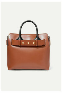 Burberry - Small Belted Leather Tote - Brown