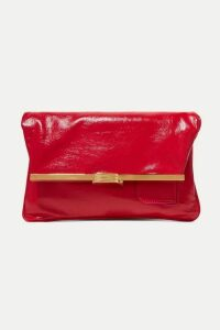 Bienen-Davis - Pm Glossed Textured-leather Clutch - One size
