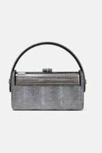 Bienen-Davis - Régine Iridescent Leather And Silver-dipped Tote - Gunmetal