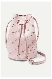 Stella McCartney - + Net Sustain Mini Perforated Faux Leather Bucket Bag - Pink