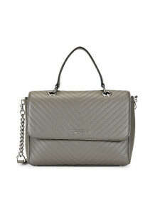 Quilted Pebble Leather Satchel