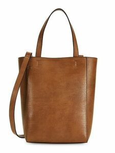 Small Fifi Embossed Faux Leather Shopper
