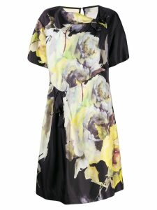 Antonio Marras floral print shift dress - Black