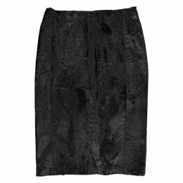 Astrakhan mid-length skirt