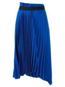 Balenciaga pleated asymmetric skirt - Blue