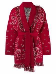 Alanui bandana motif fringed cardigan - Red