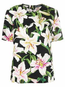 Dolce & Gabbana lily pattern T-shirt - Blue