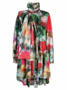 Adam Lippes oversized floral print jacket - Multicolour