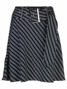 Opening Ceremony belted striped flare skirt - Black