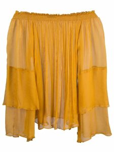 Voz cascade blouse - Yellow